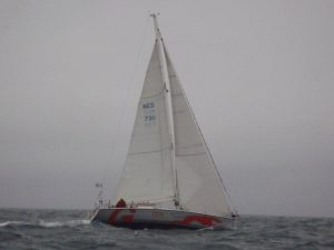 Greyhound under sail